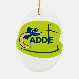 Caddie and Golfer Golf Course Icon Ceramic Ornament