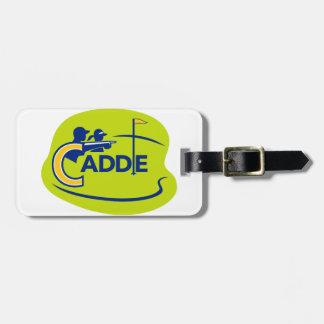 Caddie and Golfer Golf Course Icon Luggage Tag