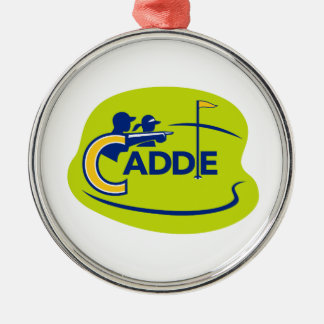 Caddie and Golfer Golf Course Icon Metal Ornament