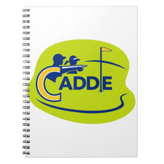Caddie and Golfer Golf Course Icon Notebooks