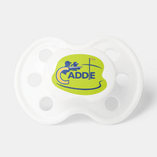 Caddie and Golfer Golf Course Icon Pacifier