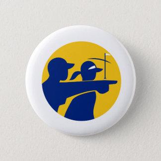 Caddie and Golfer Icon 2 Inch Round Button