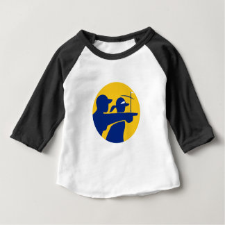 Caddie and Golfer Icon Baby T-Shirt
