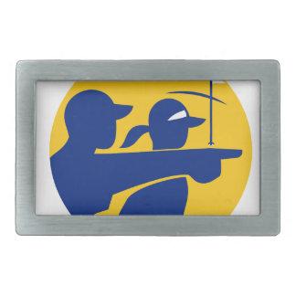 Caddie and Golfer Icon Belt Buckle