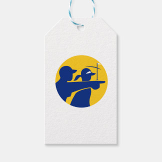 Caddie and Golfer Icon Gift Tags