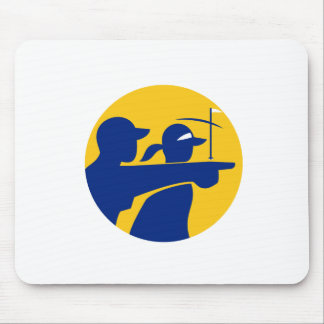 Caddie and Golfer Icon Mouse Pad