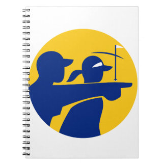 Caddie and Golfer Icon Spiral Notebook