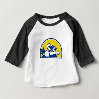 Caddie and Golfer Pointing Retro Baby T-Shirt