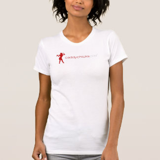 Caddychicks-Logo-Tshirt-(white-red) - Customized T-Shirt