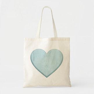 Cadeau bleu de coeur de beau baby shower sac en toile budget