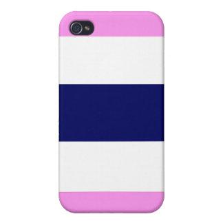 Cadeau bleu et blanc rose frais mignon de coque coque iPhone 4 et 4S