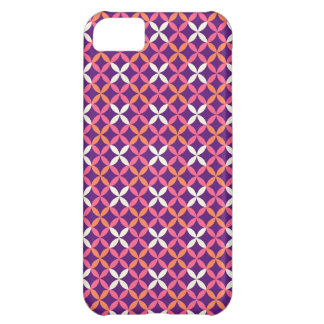 Cadeau croisé blanc rose assez pourpre de motif de coque iPhone 5C