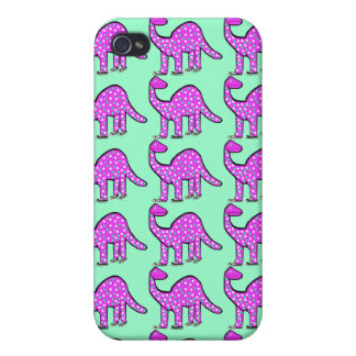 Cadeau de coque iphone de dinosaure vert de rose coques iPhone 4/4S