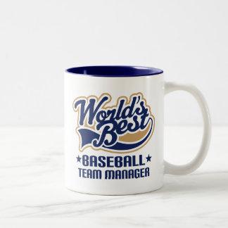 Cadeau de directeur d'équipe de baseball mug