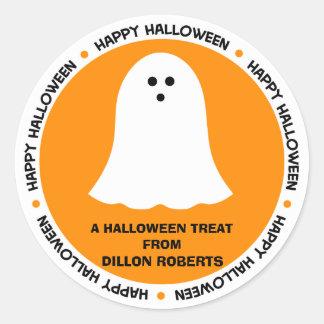 Cadeau de fantôme de Halloween Sticker Rond