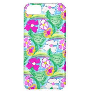 Cadeau de fleurs roses et blanches de nouveau coque iPhone 5C