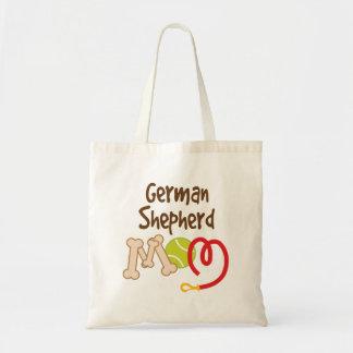 Cadeau de maman de race de chien de berger sac en toile budget