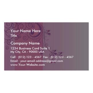 Cadeau de mariage floral violet modèles de cartes de visite