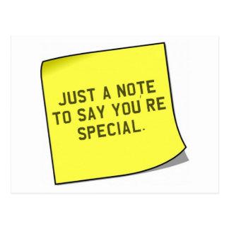 "Cadeau de Merci - citation unique de ""note"" Cartes Postales"