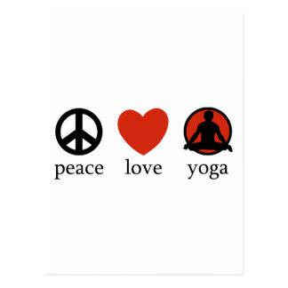 Cadeau de yoga d amour de paix