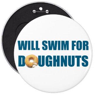 Cadeau d'équipe de natation, beignets drôles et na macaron rond 15,2 cm