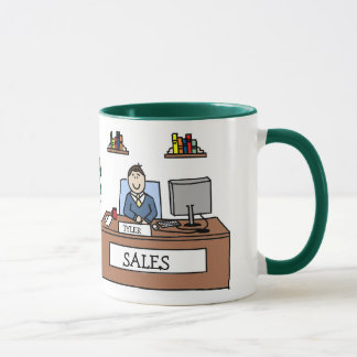 Cadeau d'équipe de ventes - tasse personnalisée de