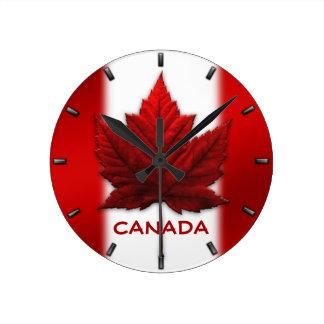 Cadeau d'horloges murales de souvenir du Canada Horloge Ronde