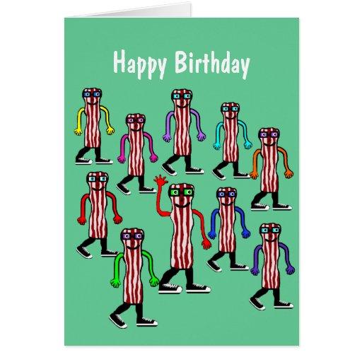 Cadeau drôle de carte d'anniversaire de lard et d'