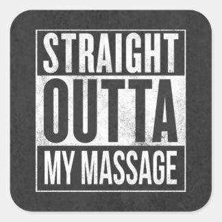 Cadeau drôle de client de thérapie de massage sticker carré