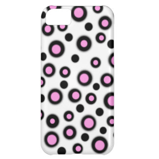 Cadeau noir et blanc de nouveau rose mignon de coque iPhone 5C