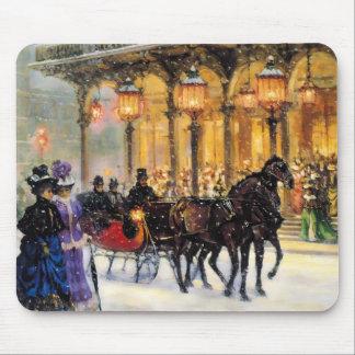 Cadeau parisien vintage Mousepads de Noël de conce Tapis De Souris