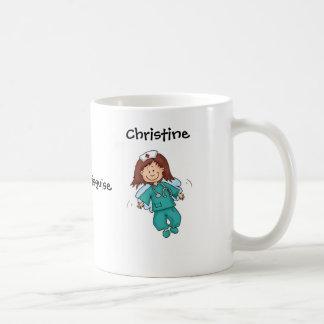 Cadeau pour l'infirmière - ange dans le déguisemen mug blanc