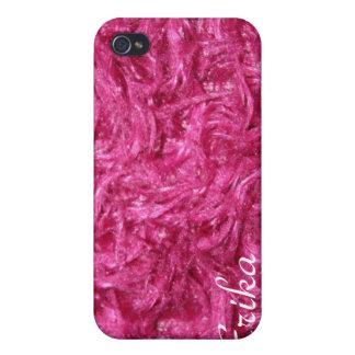 Cadeau velu rose de couverture d'Iphone 4 Étui iPhone 4
