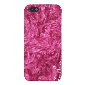 Cadeau velu rose de couverture d'Iphone 4 Étui iPhone 5