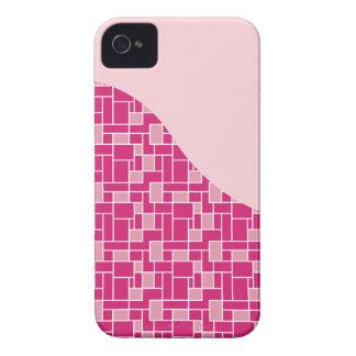 Cadeaux assez roses de motif de vague de tuile coques Case-Mate iPhone 4