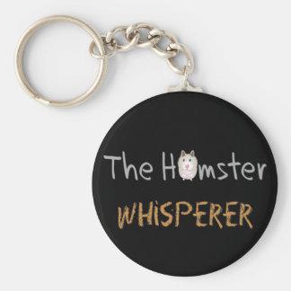 """Cadeaux d'amant de hamster """"le Whisperer de hamste Porte-clé Rond"""