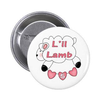 Cadeaux d'anniversaire d'agneau de filles 5èmes macaron rond 5 cm