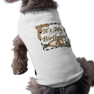 Cadeaux d'anniversaire du joyeux anniversaire Bear T-shirts Pour Chien