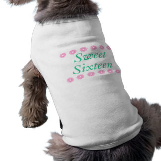Cadeaux d'anniversaire floraux de sweet sixteen manteaux pour toutous