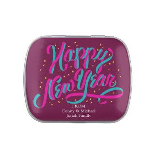 Cadeaux de bidon de sucrerie de confettis de révei boites jelly belly