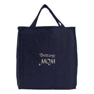 Cadeaux de maman d épagneul de Bretagne d Américai Sacs En Toile