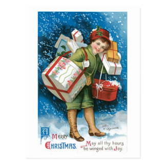 Cadeaux de Noël démodés Carte Postale