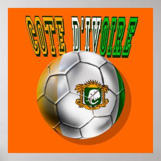 Cadeaux de passionés du football de logo de divoir posters