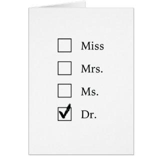 Cadeaux de PhD pour des femmes Carte De Vœux