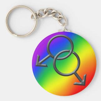 Cadeaux de porte - clés d'amour d'arc-en-ciel de p porte-clés