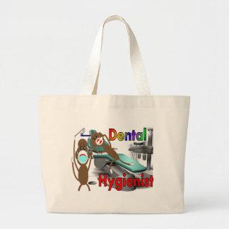 Cadeaux de singe de chaussette d'hygiéniste dentai sac en toile jumbo