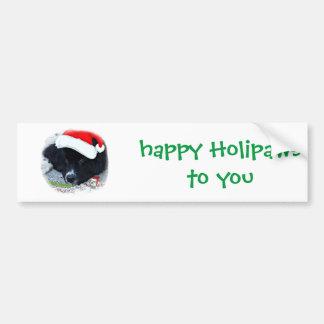 Cadeaux de Terre-Neuve de la patte de Père Noël Autocollant De Voiture