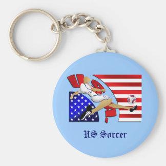 Cadeaux d'illustration de drapeau américain de grè porte-clefs