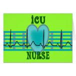 Cadeaux d'infirmière d'ICU, QRS et conception de c Carte
