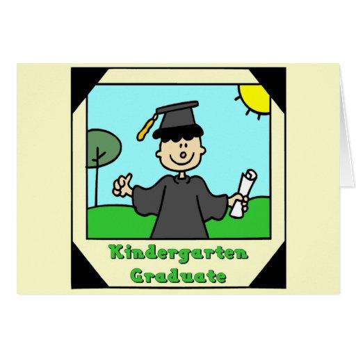 Cadeaux d'obtention du diplôme de jardin d'enfants cartes de vœux